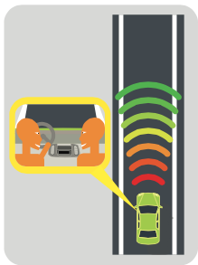 forward collision warning causes drivers to look away from road