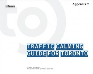 Traffic Calming Guide for Toronto
